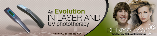 Dermaray UV ultra violet lamp | Dermaray Laser hair loss laser system.